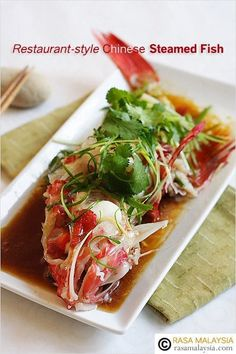 Steamed fish, Chinese steamed fish recipe. Learn how to make restaurant-style Chinese steamed fish with this easy steamed fish recipe, with steamed fish pics. | rasamalaysia.com