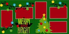 2 page layout Christmas Merry and Bright Love Scrapbook, Christmas Scrapbook Layouts, Disney Scrapbook, Scrapbook Sketches, Scrapbook Page Layouts, Scrapbook Cards, Scrapbooking Ideas, Scrapbook Frames, Bright