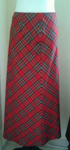 Ralph Ralph Lauren A-Line Size 4 Wool Lined Skirt  #RalphRalphLauren #FullSkirt