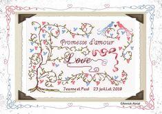 Promesse d'amour - annickabrial.net  Modèle point de croix mariage