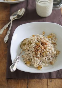 Apple nut porridge -- use coconut milk or almond milk with the cereal #paleo #glutenfree #dairyfree