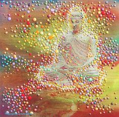 Buddha's Light energy painting by Julia Watkins.