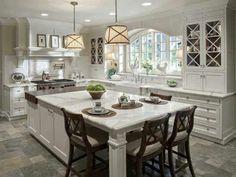 Elegant kitchen. Love the window and island