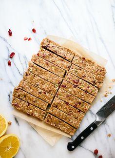 Cranberry orange granola bars, a wholesome homemade snack! - cookieandkate.com