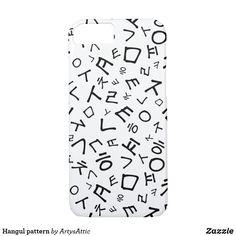 Shop Hangul pattern Case-Mate iPhone case created by ArtysAttic. Iphone 8, Apple Iphone, Iphone Cases, Korean Alphabet, Plastic Case, Gifts For Women, Places, Pattern, Art