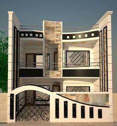 54 Best Ideas For Exterior Wall Design Facades Modern Small House Design, Classic House Design, Modern House Plans, House Outside Design, House Front Design, Village House Design, Bungalow House Design, Exterior Wall Design, Facade Design