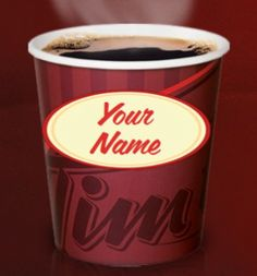 Personalize Your Cup with Tim Hortons (printable) Online Business Opportunities, Tim Hortons, Personalized Cups, Great Coffee, Free Things, Free Samples, Good Old, Candy Cane, Saving Money