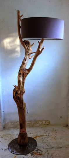 Log Table, Table Lamp, Natural Wood Crafts, Arch Light, Driftwood Lamp, Elements Of Design, Light Project, Wood Art, Floor Lamp