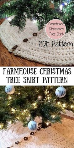 I love this idea for a crochet Christmas tree skirt! Why didn't I think of this before. Not a free pattern on Etsy.