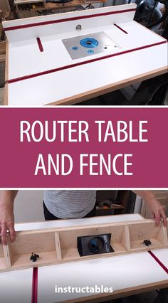 Router Table and Fence Make a router table and fence using melamine (to get a nice flat smooth surface to work with) with some T-tracks for featherboards. The post Router Table and Fence appeared first on Woodworking Diy.