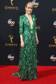 Sarah Paulson in Prada attends the 68th Annual Primetime Emmy Awards