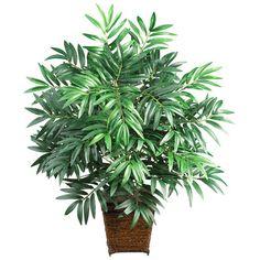 Faux bamboo arrangement with a woven wicker planter.    Product: Faux botanical arrangementConstruction Material: ...