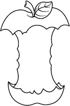 Best Photos Of Black And White Apple Template Apple Clip Art Black - - jpeg Apple Clip Art, Apple Art, Kids Art Class, Art For Kids, Crafts For Kids, Patterning Kindergarten, Apple Template, Apple Images, Hedgehog Craft