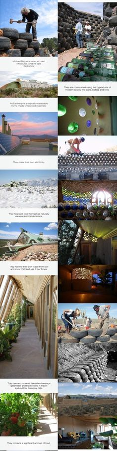 eco houses. interesting.- I want to live in an Earthship!
