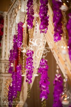 Suhaag Garden, Florida Indian Wedding Decorator, California Indian Wedding Decorator, San Fransisco Indian Wedding Decorator, Jodha Akhbar Mandap, Open Formation Mandap, Red Green & Pink Mandap Decor, Ganesh Table, Aisle Floral Scrolls, Orchid Garlands, Hanging Candle Orbs