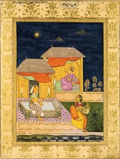 Indian Ragamala Painting (unidentified). Deccan (probably Hyderabad). Datec.1750-1800