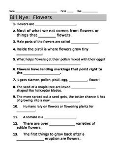 Worksheets Bill Nye Chemical Reactions Worksheet bill nye motion guide sheet student and videos flowers video sheet