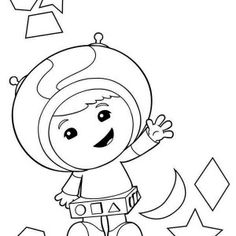 Team Umizoomi, Geo The Shape Expert In Team Umizoomi Coloring Page: Geo The  Shape Expert In Team Umizoomi Coloring Page