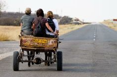 Etosha Transport The ladies were fortunate to get a afternoon ride on this REAL cart!