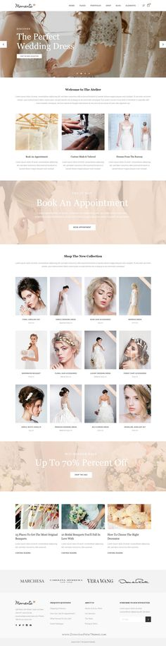 Moments is wonderful WordPress template for multipurpose #Wedding, Celebration & Event website with 18+ stunning homepage layouts. #eCommerce #weddingdress Download Now!