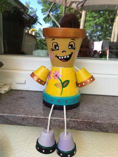 Flower Pot Crafts, Clay Pot Crafts, Flower Pots, Flower Pot People, Clay Pot People, Terracotta Pots, Terra Cotta, Clay Pots, Teddy Bears