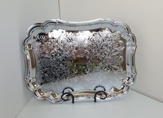 Glo-Hill Gourmates Chrome Plated Oval Serving Platter/Tray Etched, Ornate Design by on Etsy Chrome Plating, Trending Outfits, Unique Jewelry, Handmade Gifts, Etsy, Vintage, Fashion, Kid Craft Gifts, Moda