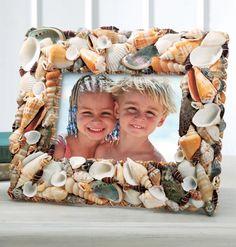 Shell frame- anglesea and put family beach photos