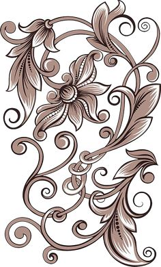 Pyrography Designs, Pyrography Patterns, Carving Designs, Stencil Patterns, Stencil Designs, Embroidery Patterns, Hand Embroidery, Grafic Design, Motif Arabesque