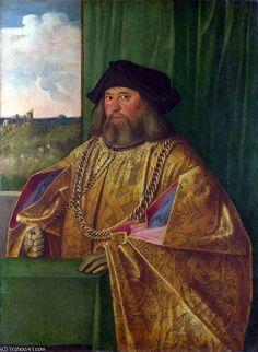 'Francesco Albani', di Giovanni Cariani (aka. Giovanni Busi or Il Cariani) (Italian, 1490-1547).