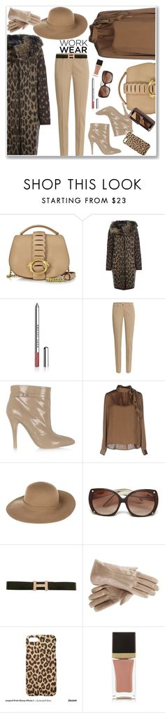 """""""Working lady!"""" by hani-bgd ❤ liked on Polyvore featuring Roberto Cavalli, Lanvin, Marc Jacobs, Michael Kors, Maison Margiela, Vero Moda, Armani Jeans, Tom Ford, Hermès and Hourglass Cosmetics"""