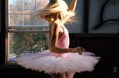 i love the way the camera captures the spin of the hair and tutu