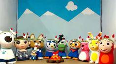 [ENG] Ten little indians children's song Pororo toys animation 卜罗罗 宝露露,P...