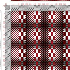 draft image: Figure A Manual of Weave Construction, Ivo Kastanek, Weaving Designs, Weaving Projects, Weaving Patterns, Stitch Patterns, Knitting Patterns, Loom Weaving, Hand Weaving, Sampler Quilts, Tear