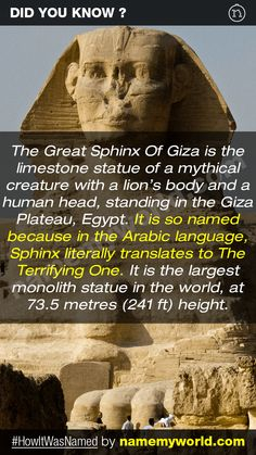 So how will you name your baby? Hint : Use our apps > bit.ly/NMWiphone / bit.ly/NMWandroid  #HowItWasNamed #GreatSphinxOfGiza