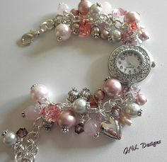 DIY your photo charms, compatible with Pandora bracelets. Make your gifts special. Make your life special! Valentines Watch Bracelet Charm Bracelet Shades of Pink Bracelet Timepiece Bracelet Charm Jewelry, Diy Jewelry, Beaded Jewelry, Fashion Jewelry, Jewelry Making, Pandora Bracelets, Sterling Silver Bracelets, Jewelry Bracelets, Beaded Watches