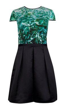 b4169acc5c6d Ted Baker Rossette Hhanah Green and Black Floral Dress 1