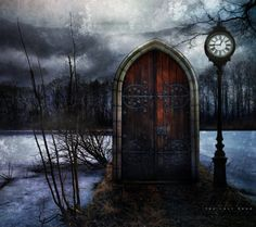Time Portal, The Enchanted Wood photo via jenny Fantasy World, Fantasy Art, Dark Fantasy, Enchanted Wood, Medieval, Wow Art, Photo On Wood, Story Inspiration, Doorway
