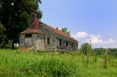"""Intriguing abandoned church in rural Tennessee.  This is """"The Shed Church"""", so named because the first congregation began in a shed across the road by a spring.  I dearly love the South...things are simple here! :)"""
