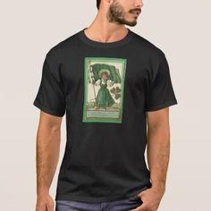 ce3c018c4 #vintage - #Original Saint patrick's day lady vintage poster T-Shirt Monkey  T