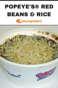 This tasty dish is a spin on a Cajun specialty, although it is very different from authentic Cajun food. The red beans mixture is made separate from the rice, and is. Popeyes Red Beans And Rice Recipe, Red Bean And Rice Recipe, Red Beans Recipe, Easy Rice Recipes, Bean Recipes, Veggie Recipes, Mexican Food Recipes, Creole Recipes, Cajun Recipes