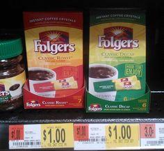 FREE Folgers PLUS $.50 Overage At Walmart!