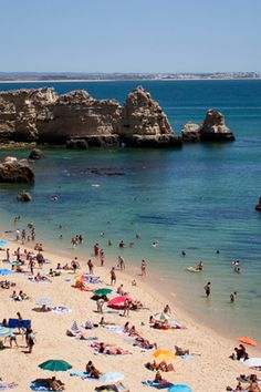 Praia Dona Ana // Lagos, Portugal // #praiadonaana #algarve // The Ultimate Beach Vacation Bucket List  via @PureWow
