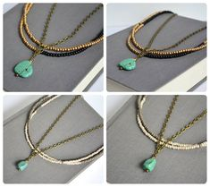 Turquoise Tribal Necklace - top SOLD bottom on sale