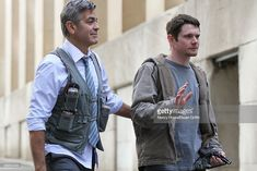 News Photo : George Clooney and Jack O'Connell are seen on the...