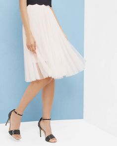 8c4a6276e Pleated tulle skirt - Baby Pink