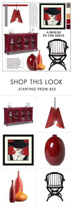 """""""A House in the Hills"""" by pat912 ❤ liked on Polyvore featuring interior, interiors, interior design, casa, home decor, interior decorating, Emissary, CB2 e polyvoreeditorial"""