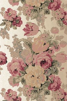 Anna French Wallpaper and Fabric - Wild Flora - Bouquet - Gold
