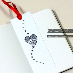 Doodle Bookmark by LinesInAir on DeviantArt - myeasyidea sites Creative Bookmarks, Diy Bookmarks, Watercolor Books, Watercolor Bookmarks, Simple Doodles, Cute Doodles, Zen Doodle, Doodle Art, Doodle Ideas
