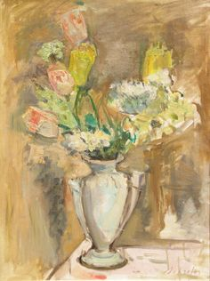 Zygmunt SCHRETER (Szreter),Kwiaty w wazonie , olej, płótno, 62 x 47,5 cm