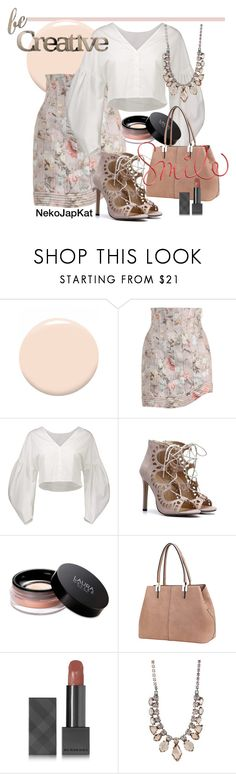 """apricot"" by neko-m-tucker-smith ❤ liked on Polyvore featuring Christian Dior, Zimmermann, Laura Geller, MKF Collection, Burberry, Sorrelli and Letter2Word"